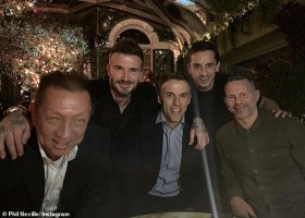 David Beckham na srazu The Class of 92