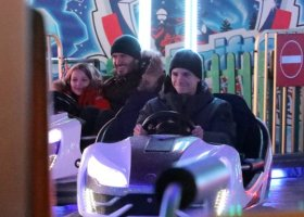 David Beckham s dětmi ve Winter Wonderlandu